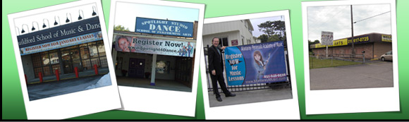 Full Color Digitally Printed Graphics for Dance & Music Studios